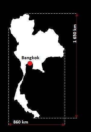 Stolica Tajlandii - mapa