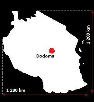 Stolica Tanzanii - mapa