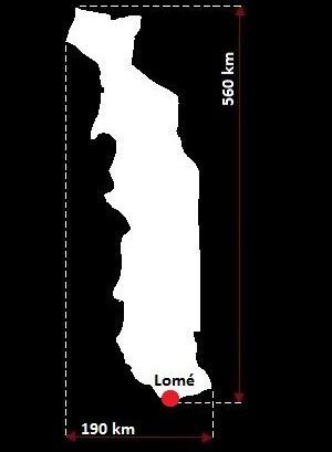 Stolica Togo - mapa