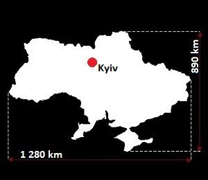 Stolica Ukrainy - mapa
