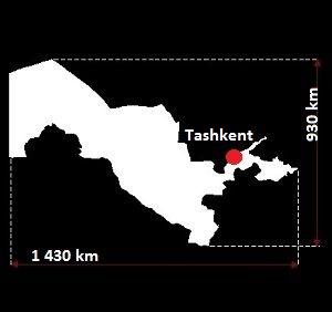 Stolica Uzbekistanu - mapa