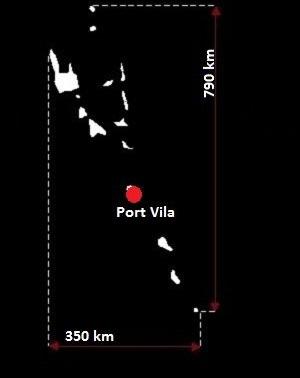 Stolica Vanuatu - mapa