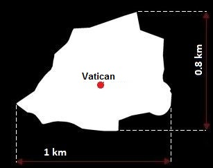 Stolica Watykanu - mapa