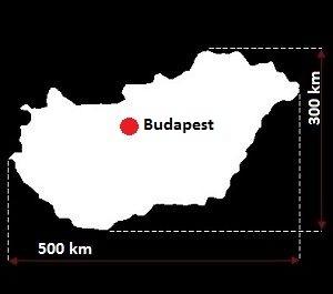 Stolica Węgier - mapa