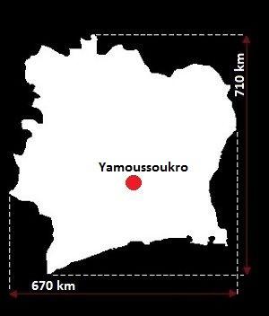 Stolica Wybrzeża Kości Słoniowej - mapa