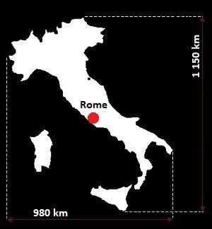 Stolica Włoch - mapa