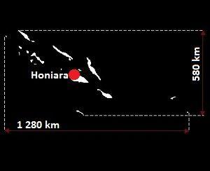Stolica Wysp Salomona - mapa