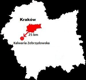 Kalwaria Zebrzydowska mapa