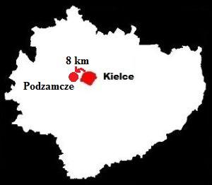 zamek piekoszów - mapa