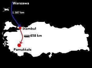 Bawełniana Twierdza Pamukkale mapa