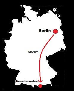 neuschwanstein mapa