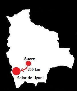 Solar de Uyuni mapa