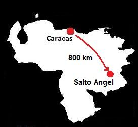 Salto Angel mapa