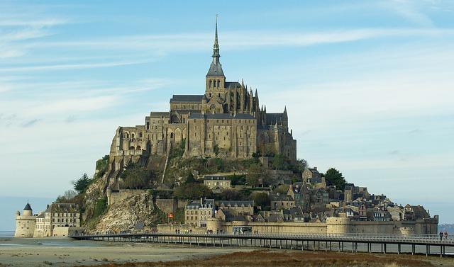 Mont Saint-Michel grafika1