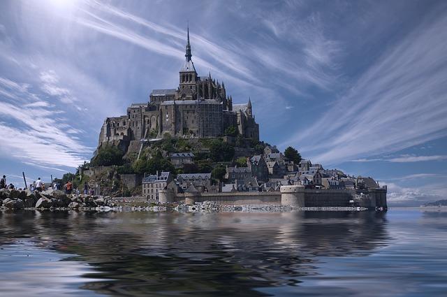 Mont Saint-Michel grafika2