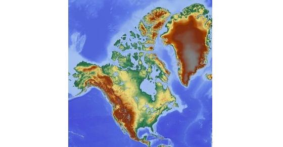 Ameryka Północna mapa