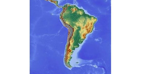 Ameryka Południowa mapa
