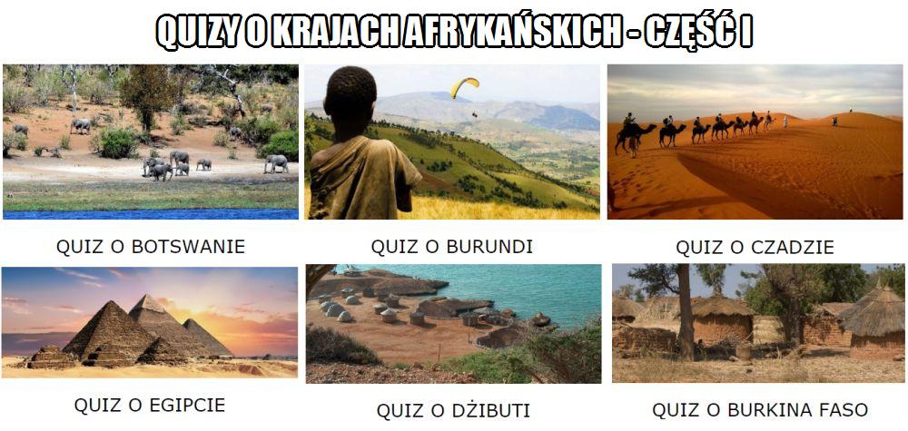 Quizy o krajach afrykańskich część 1