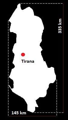 Albania wymiary