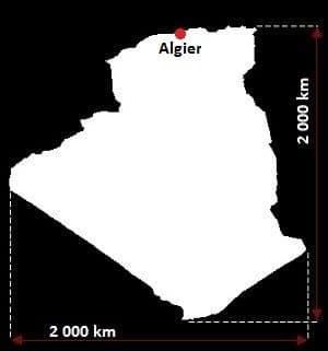 Algieria wymiary