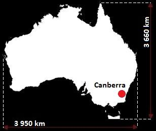 Australia wymiary