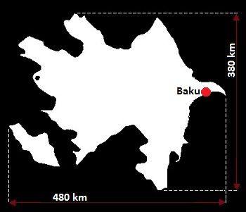 Azerbejdżan wymiary