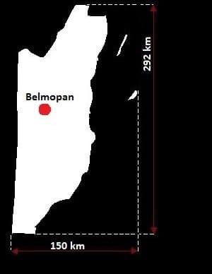 Belize wymiary