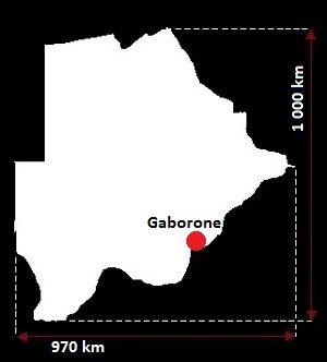 Botswana wymiary