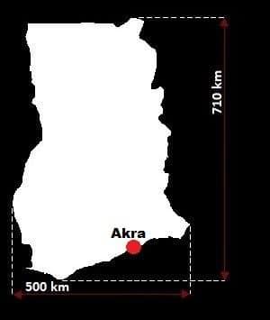 Ghana wymiary
