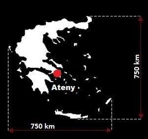 Grecja wymiary