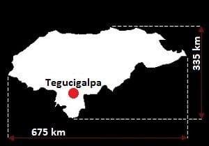Honduras wymiary