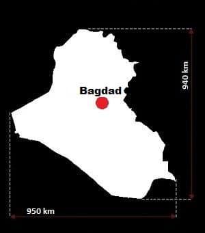 Irak wymiary