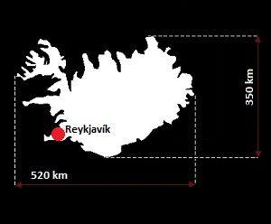 Islandia wymiary