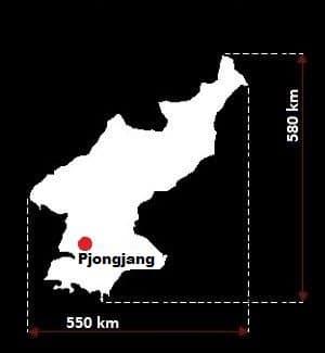 Korea Północna wymiary
