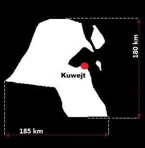 Kuwejt wymiary