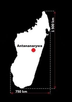 Madagaskar wymiary