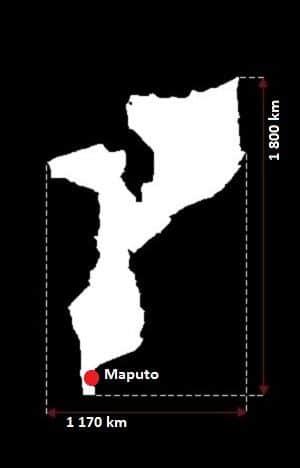Mozambik wymiary