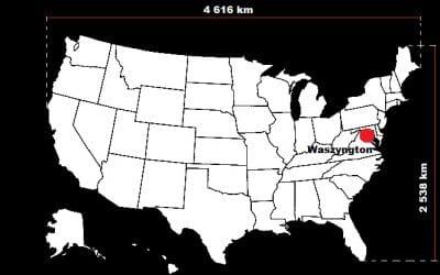 10 największych państw pod względem powierzchni w Ameryce Północnej