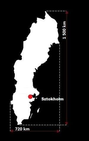 Szwecja wymiary