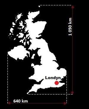 Wielka Brytania wymiary