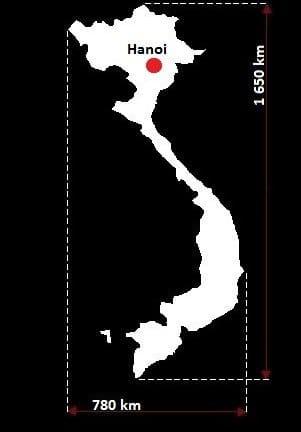 Wietnam wymiary