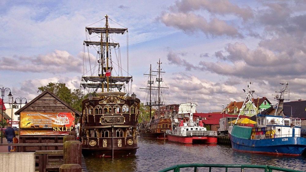 Łeba port