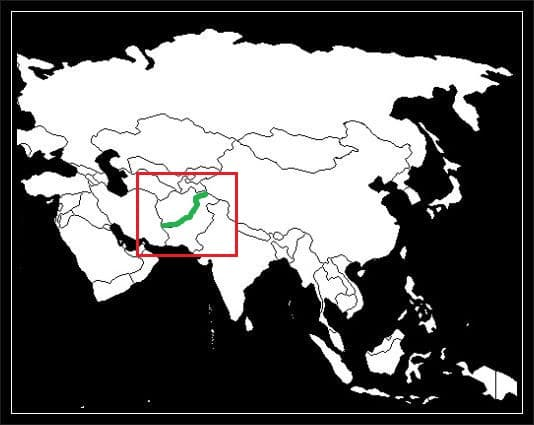 Granica Afganistanu z Pakistanem grafika