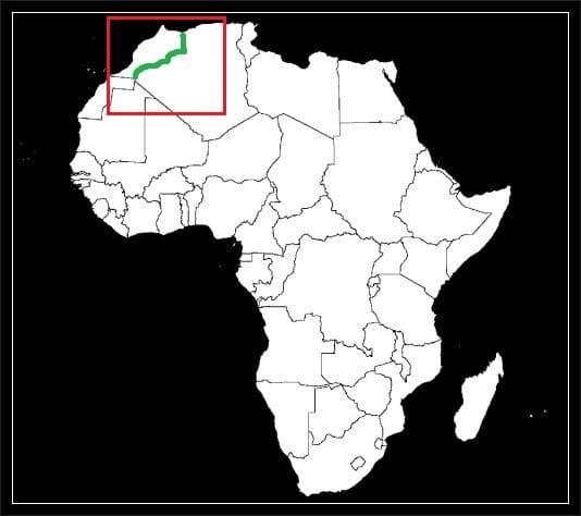 Granica Algierii z Maroko grafika