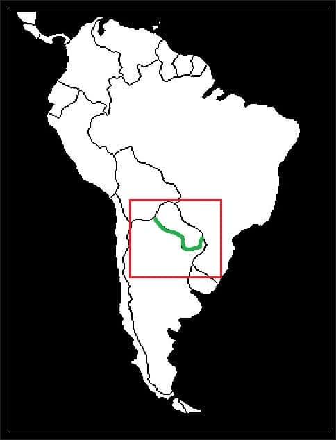 Granica Argentyny z Paragwajem grafika