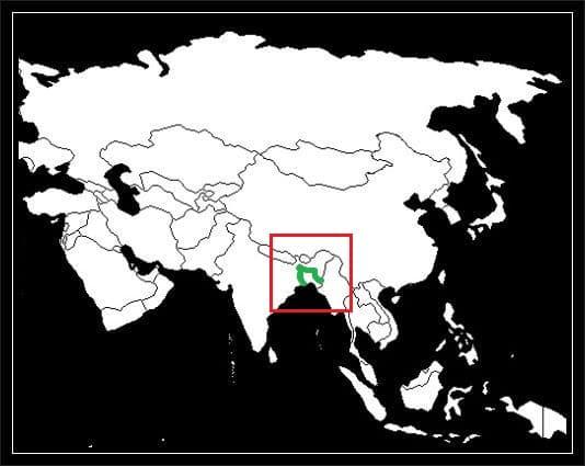 Granica Bangladeszu z Indiami grafika