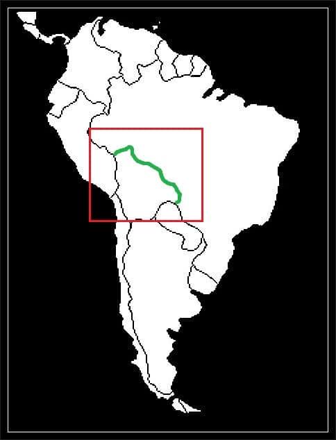 Granica Boliwii z Brazylią grafika
