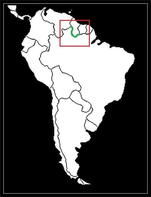 Granica Brazylii z Gujaną grafika