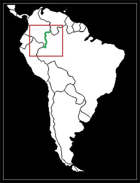 Granica Brazylii z Kolumbią grafika