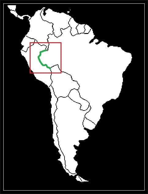 Granica Brazylii z Peru grafika
